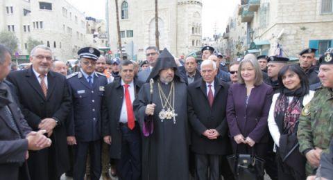 الكنيسة الأرمنية بفلسطين تحتفل بعيدي الميلاد والغطاس