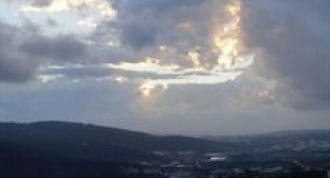 حالة الطقس: زخات متفرقة من الأمطار في شمال البلاد