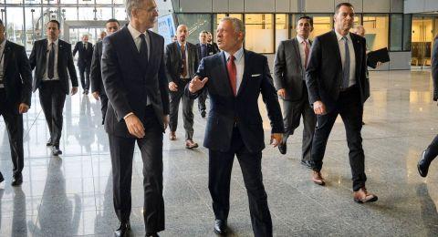 العاهل الأردني وأمين عام الناتو يؤكدان على استمرار التعاون في مجالات الأمن والدفاع