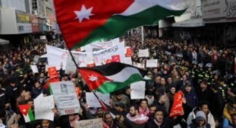 مسيرة شعبية في العاصمة الاردنية عمان تطالب باسقاط اتفاقية الغاز مع الاحتلال