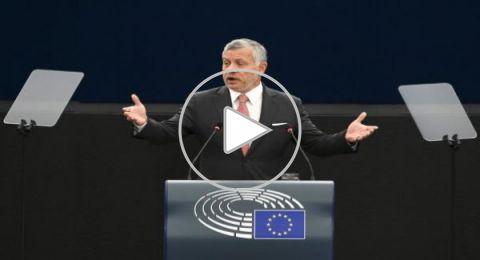 بكلمة مؤثرة.. العاهل الأردني يحذر البرلمان الأوروبي من حرب شاملة بالشرق الأوسط
