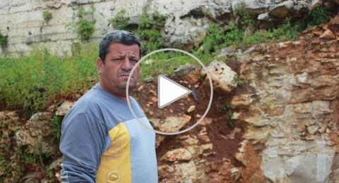 سلمان خطيب من كفر سميع : جدار ايل للسقوط على بيت ابني