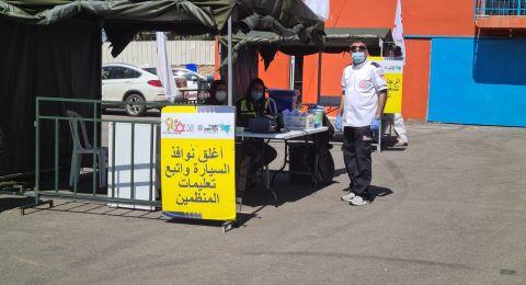 محطة فحص كورونا في دبورية، ورئيس المجلس: الهدف هو الوصول إلى شهر رمضان دون أي حالة كورونا في القرية