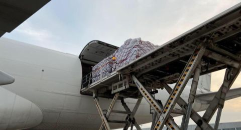 قافلة جوية تحمل ملايين المعدات الطبية من الصين لإسرائيل