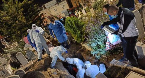 جنازات ضحايا الكورونا .. هكذا تم تشييع جثمان المرحومة الحاجة سميحة ذياب من طمرة