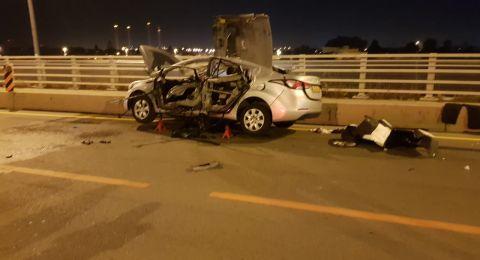 انفجار سيارة في الخضيرة وإصابة رجل بجراح خطيرة