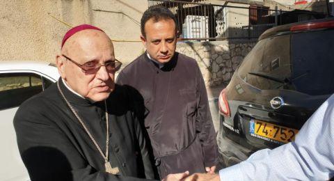 البطريرك ميشيل صباح يزور كفركنا لحل النزاع وتهدئة الخواطر
