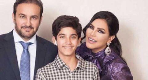 احلام تحتفل بعيد ميلاد ابنها فاهد