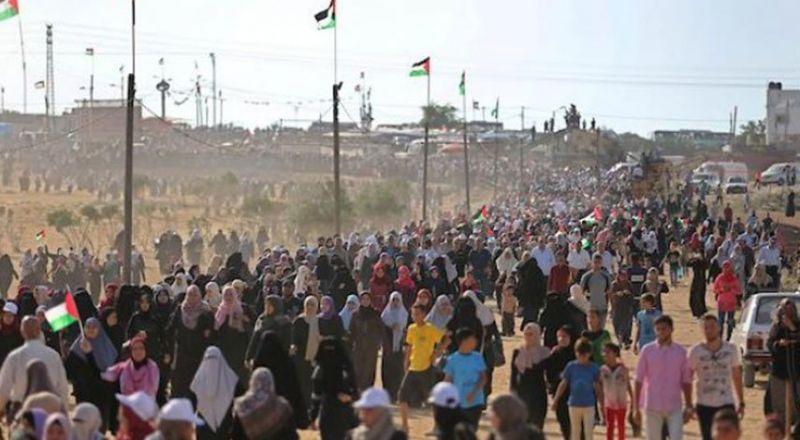 توقع مشاركة الآلاف في مظاهرات النكبة في قطاع غزة اليوم
