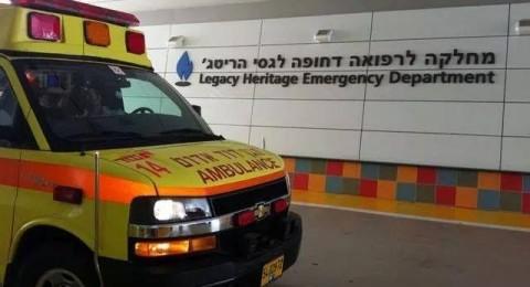 كفر سميع: اصابة خطيرة لعامل بعد سقوطه عن علو