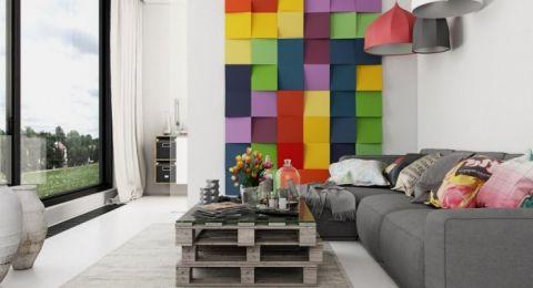تصاميم جبسية بألوان جريئة لجدران منزلك
