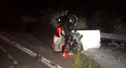 المغار: اصابة بالغة لسائق دراجة (16) عامًا نتيجة لحادث ذاتي