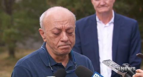 والد الطالبة آيه مصاروة يتحدث لوسائل الاعلام الاسترالية