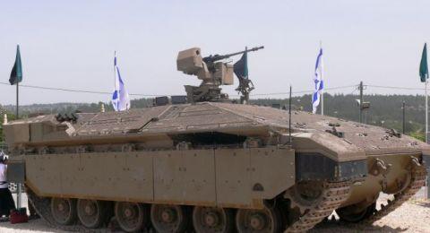 دبابة إسرائيلية تتدحرج مسافة 600 متر وتعبر الطريق السريع 40 بعد نوم طاقمها