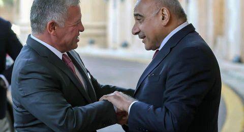 العاهل الأردني ورئيس الوزراء العراقي يبحثان