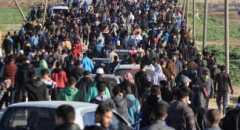 اصابة 43 مواطنا في قمع الاحتلال لمسيرات العودة