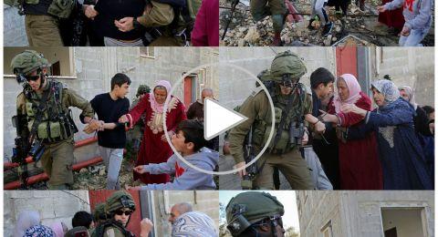 شاهد..صراخ نساء وإصابات واعتقال طفل في كفر قدوم