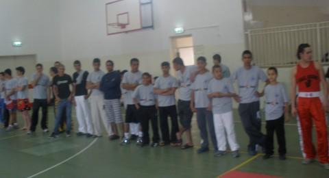 أشبال فرقة الكاراتيه والكيك بوكس في كسيفة يشاركون في البطولة السنوية بمدينة ايلات