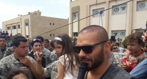 جوزيف عطية يحتفل مع فوج المغاوير وأبناء الشهداء بالعيد