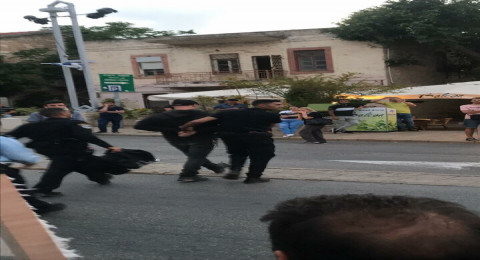 حيفا: مظاهرة احتجاج على مجزرة غزة، مشاحنات واعتقالات