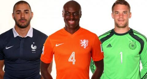 أفضل 11 لاعباً أوروبياً فى مونديال 2014