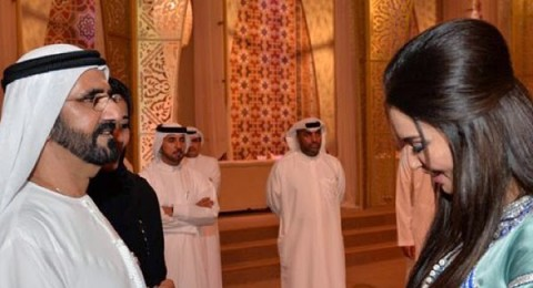 فستان ميساء مغربي يلفت الأنظار بحفل إفطار محمد بن راشد
