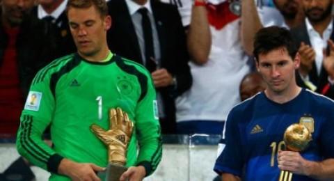 ليونيل ميسي أفضل لاعب في بطولة كأس العالم ونوير أفضل حارس