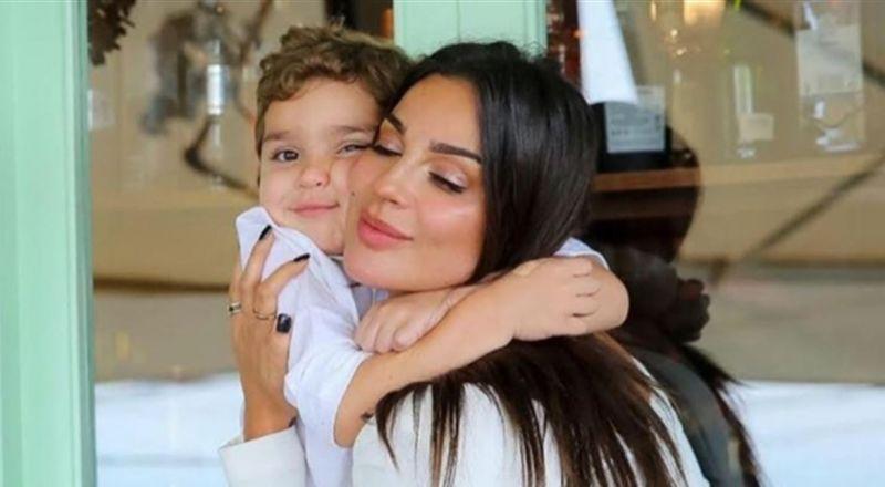 برسالة مؤثرة.. نادين نسيب نجيم تحتفل بعيد ميلاد ابنها