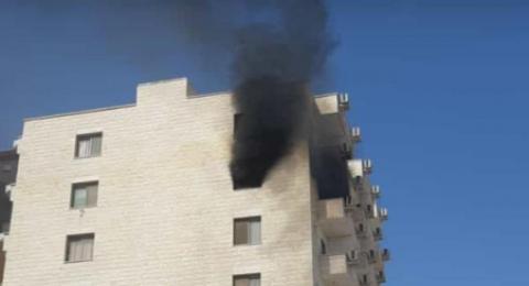 الجامعة العربية الامريكية- جنين:  حريق في سكن الملكية للطلاب