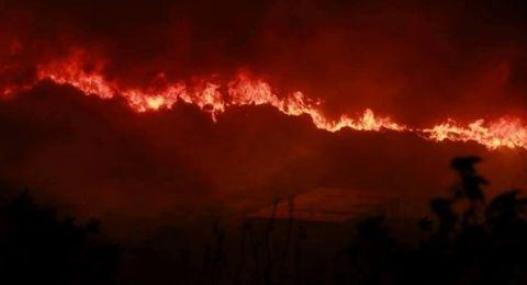 الأمطار الغزيرة تساهم بوقف تمدد الحرائق في لبنان
