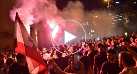 تظاهرات حاشدة وسط بيروت.. وهتافات بإسقاط النظام، وسقوط قتيلين في طرابلس