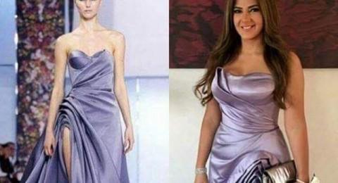 نجمة هندية ترتدي نفس فستان دنيا سمير غانم المسروق!
