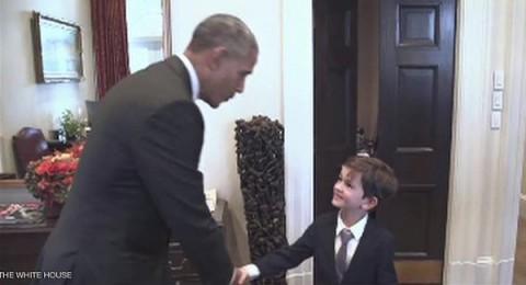 عمران السوري يجمع أوباما بالطفل أليكس