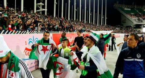 فوز المنتخب الفلسطيني على الاولمبي الجزائري وسط كرنفال رياضي