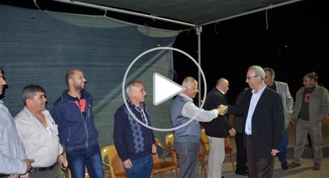 كوكب: توافد الجماهير العربية المتضامنة إلى خيمة الاعتصام