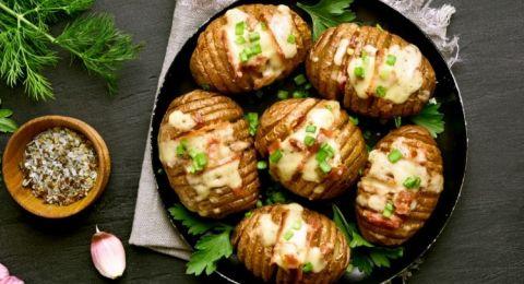 بطاطس بالجبن في الفرن
