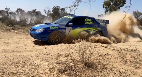 صور وفيديو: رامي غدير يحصد المكان الاول في سباق سيارات رهط - بئر السبع