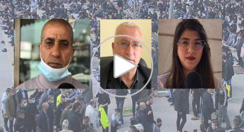 اجماع جماهيري لاستمرار المظاهرات المنددة للعنف والجريمة