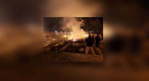 إخماد حريق شبّ  امس على سطح المصلى المرواني في الأقصى