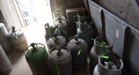 ام الفحم: مصادرة 149 اسطوانة غاز واعتقال 3 مشتبهين