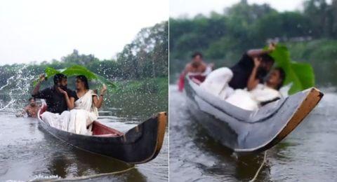 الهند: ماذا حدث لهذان العروسان خلال التقاط قبلة لصورة الزفاف