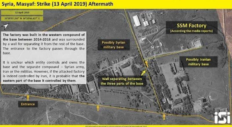 بالصور.. آثار الضربة الإسرائيلية لموقع مصياف العسكري السوري