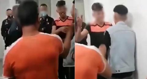 فيديو صادم : شرطي إيطالي يجبر تونسيين مهاجرين على صفع بعضهما