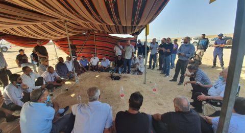 مظاهرة حاشدة في رخما في النقب بمشاركة واسعة من لجنة المتابعة