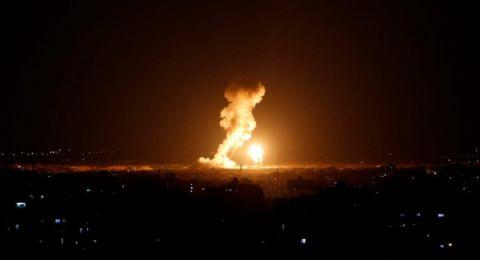 قصف عدة أهداف في قطاع غزة