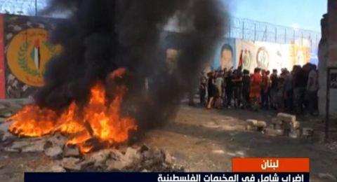 اللاجئون الفلسطينيون يحتجون ضد قرارات وزير العمل اللبناني