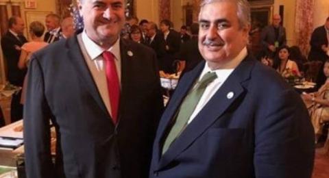 لقاء علني بين وزيري خارجية البحرين و