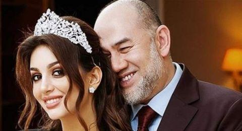 زواجهما أثار الجدل.. ملك ماليزيا السابق لملكة جمال موسكو: