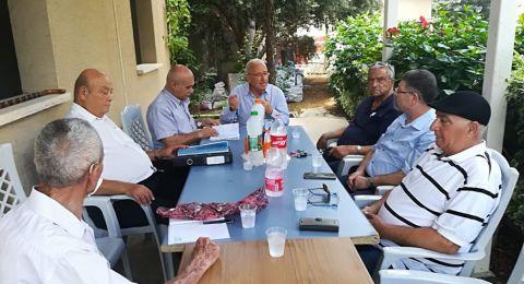 لجنة احياء مئوية القائد جمال عبد الناصر تزور الصديق محمد العينين في قرية المزرعة