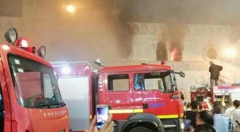 الأردن.. حريق يلتهم المسجد الحسيني التاريخي